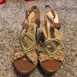Tan Wedges